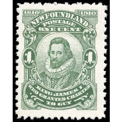 newfoundland stamp 87xii king james i 1 1910