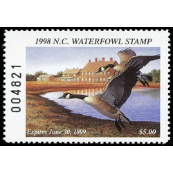 us stamp rw hunting permit rw nc17 north carolina canada geese 5 1998