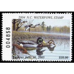 us stamp rw hunting permit rw nc29 north carolina mallards 10 2004