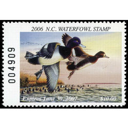 us stamp rw hunting permit rw nc33 north carolina lesser scaups 10 2006