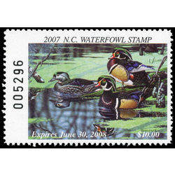 us stamp rw hunting permit rw nc35 north carolina wood ducks 10 2007