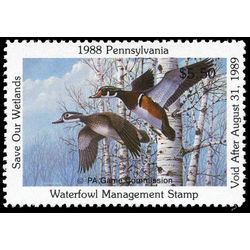 us stamp rw hunting permit rw pa6 pennsylvania wood ducks 5 50 1988