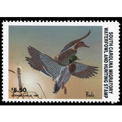 us stamp rw hunting permit rw sc3 south carolina pintails 5 50 1983