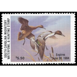 us stamp rw hunting permit rw sc4 south carolina canada geese 5 50 1984