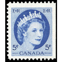 canada stamp 341as queen elizabeth ii 5 1954