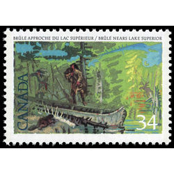 canada stamp 1126 brule nears lake superior 34 1987