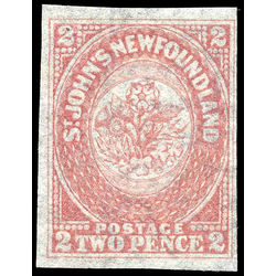 newfoundland stamp 17i 1861 third pence issue 2d 1861 m vfng 001