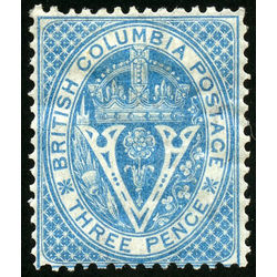 british columbia vancouver island stamp 7 seal of british columbia 3d 1865