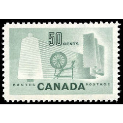 canada stamp 334 textile industry 50 1953
