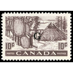 canada stamp o official o26 fur drying skins b 10 1950