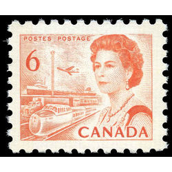 canada stamp 459p queen elizabeth ii transportation 6 1968