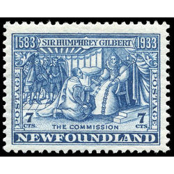 newfoundland stamp 217 gilbert receiving royal patents 7 1933