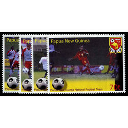 papouasie nouvelle guinee stamp 1136 39 national soccer team 2004