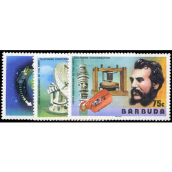 barbuda stamp 260 2 telephone centenary 1977