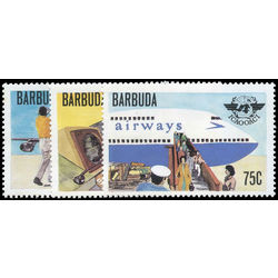 barbuda stamp 391 3 intl civil aviation organization 30th anniv 1979
