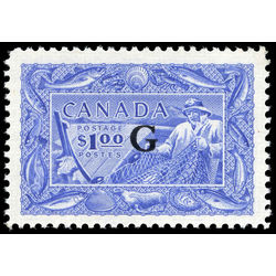 canada stamp o official o27 fisherman b 1 00 1950