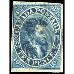 canada stamp 7 jacques cartier 10d 1855 u f vf 013