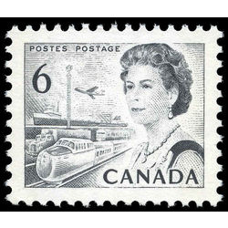 canada stamp 460pi queen elizabeth ii transportation 6 1970