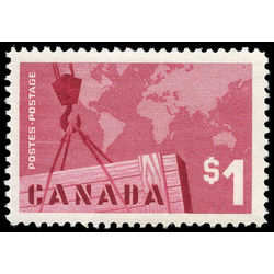 canada stamp 411 crane and map 1 1963