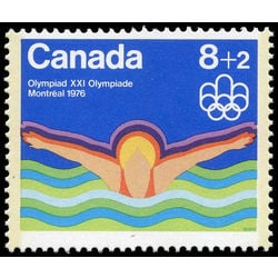 canada stamp b semi postal b4 swimming 1975