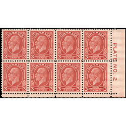 canada stamp 192i block king george v 3 1932 pb lr 004