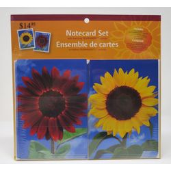 sunflowers notecard set with matching permanent stamps