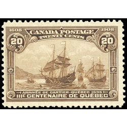 canada stamp 103 cartier s arrival 20 1908 m f vfnh 011