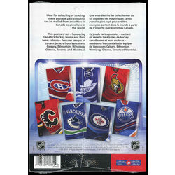nhl team jerseys post cards collection