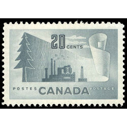 canada stamp 316 paper mill 20 1952