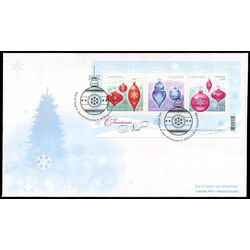 canada stamp 2411 christmas ornaments 2010 fdc 001
