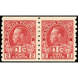canada stamp mr war tax mr6pa war tax coil pair 1916