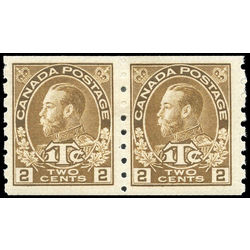 canada stamp mr war tax mr7apa war tax coil pair 1916