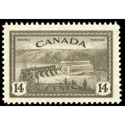 canada stamp 270 hydroelectric station quebec 14 1946