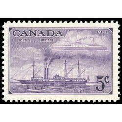 canada stamp 312 steamships of 1851 and 1951 5 1951