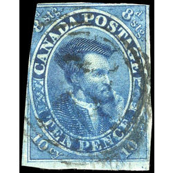 canada stamp 7 jacques cartier 10d 1855 u vg 015