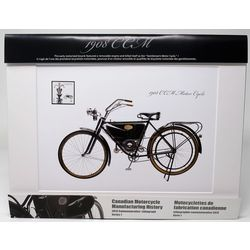 commemorative lithograph of the 1908 ccm light weight motor cycle