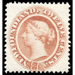 newfoundland stamp 28 queen victoria 12 1870