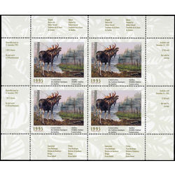 quebec wildlife habitat conservation stamp qw8b moose by robert gerard 1995