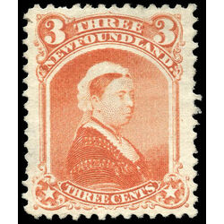 newfoundland stamp 33 queen victoria 3 1870 m vf 015