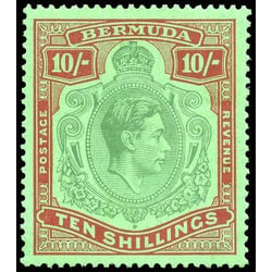 bermuda stamp 126a king george vi 10sh 1938 mvf 001