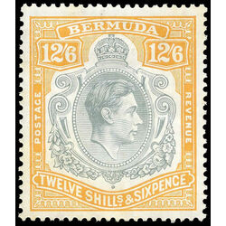 bermuda stamp 127a king george vi 1938 mvf 001