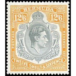 bermuda stamp 127c king george vi 1938 mvf 001