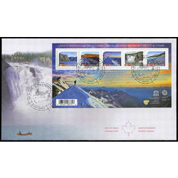 canada stamp 2718 unesco world heritage sites in canada 4 25 2014 fdc 001