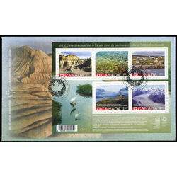 canada stamp 2857 unesco world heritage sites in canada 8 60 2015 fdc 001