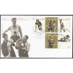canada stamp 1612a canadian olympic gold medallists 1996 fdc 001