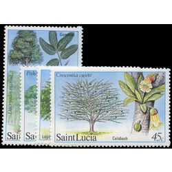 st lucia stamp 649 52 trees 1984