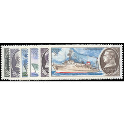 russia stamp 4881 6 ships 1980