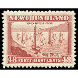 newfoundland stamp 266 fishing fleet 48 1943