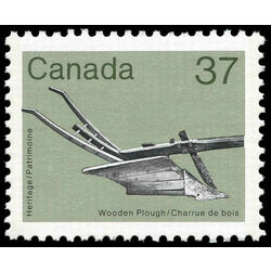 canada stamp 927i wooden plough 37 1984