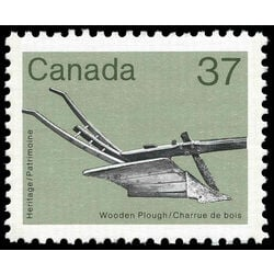 canada stamp 927 wooden plough 37 1983